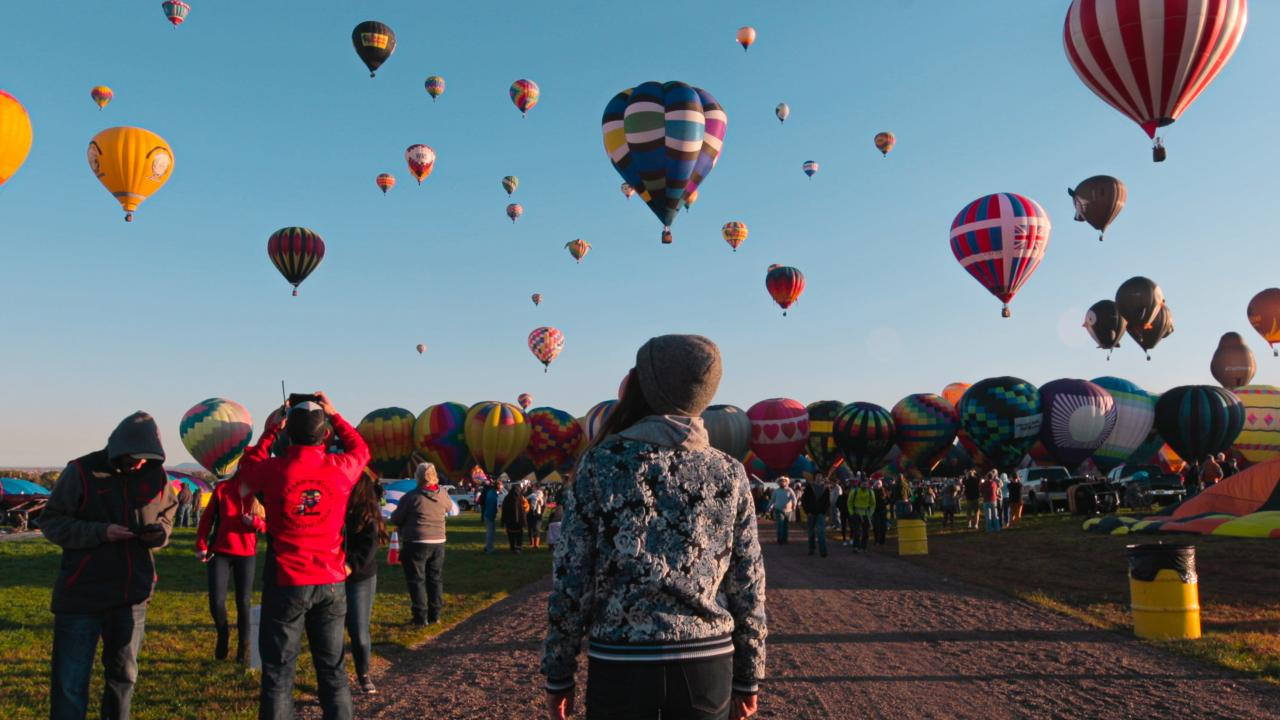 O Albuquerque International Balloon Fiesta no Novo México