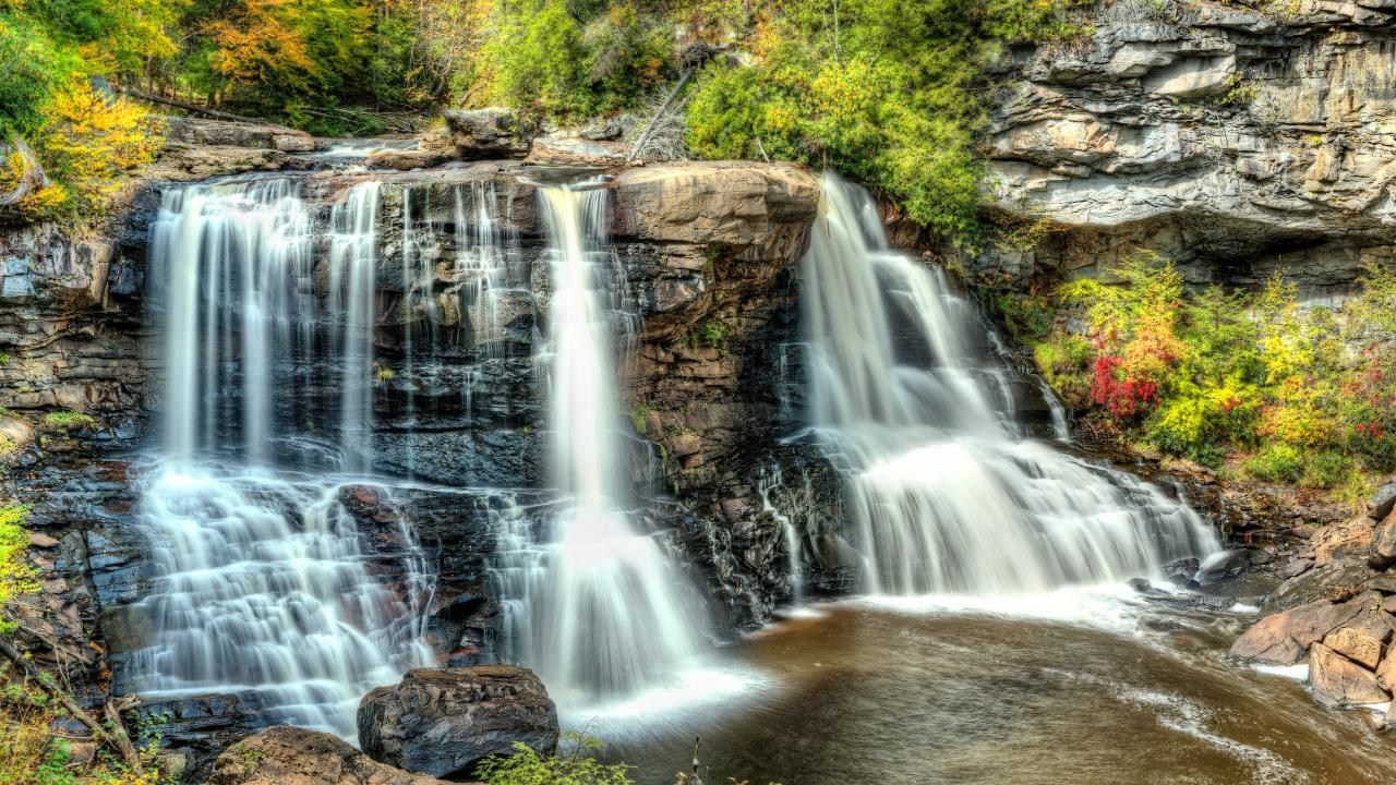 Blackwater Falls State Park em Davis, West Virginia
