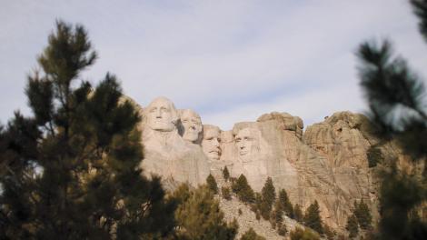 Mount Rushmore National Memorial em Dakota do Sul