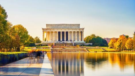 O Lincoln Memorial no National Mall em Washington, D.C.