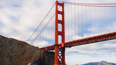 A Golden Gate Bridge, em San Francisco, na Califórnia