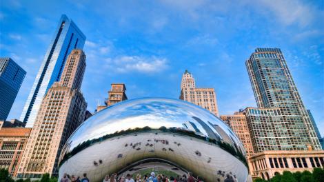 Escultura Cloud Gate, em Chicago, Illinois