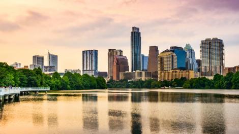 O horizonte de Austin, Texas