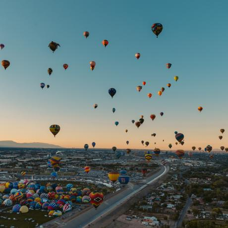 O Albuquerque International Balloon Fiesta, no Novo México