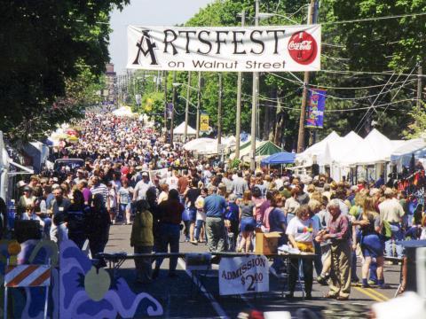 Artsfest on Walnut Street, um dos maiores festivais ao ar livre do sudoeste do Missouri