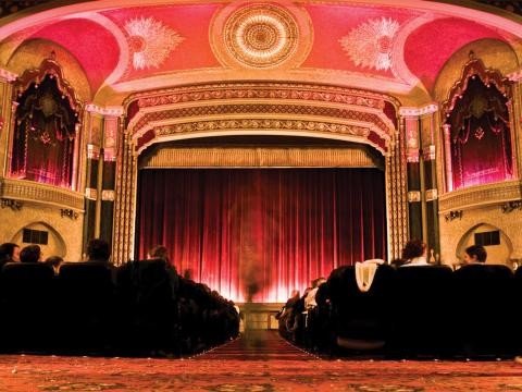 O Oriental Theater (Teatro Oriental), local do Milwaukee Film Festival (Festival de Filmes de Milwaukee)