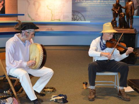 Música tradicional no Festival de música Lewis and Clark