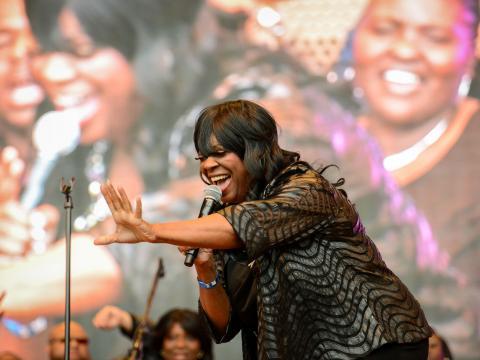 Contato com o público no Chicago Gospel Music Fest