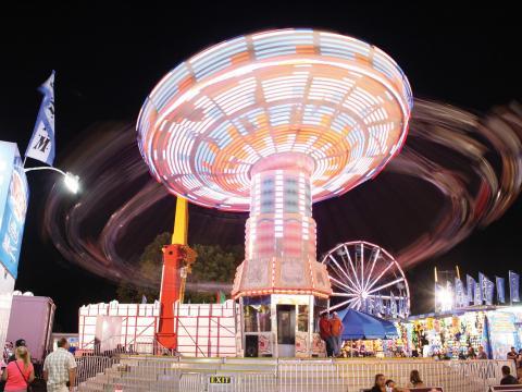 Um dos passeios da Dutchess County Fair (Feira do Condado de Dutchess)