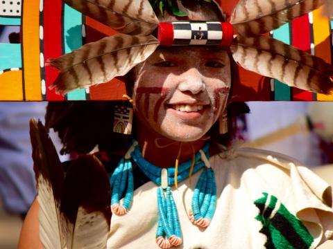 Uma menina no Festival Hopi