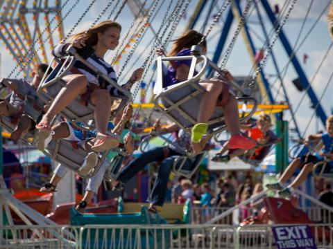 Nas alturas durante a Illinois State Fair