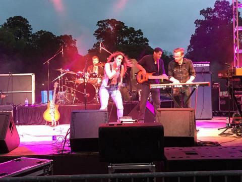 Performance durante o Festival de Jazz/R&B de Natchitoches