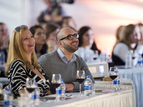 Degustação de vinho e seminário na Kohler Food & Wine Experience