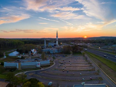 Overlooking the Space and Rocket Center in Huntsville, Alabama