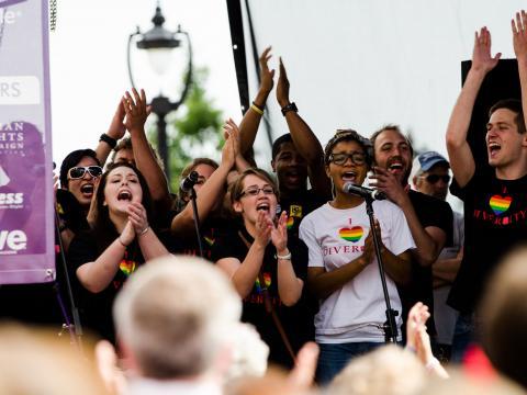 Celebrando a diversidade em Out! Raleigh Pride, na Carolina do Norte
