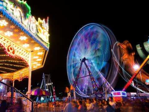Passeios na California Mid-State Fair, em Paso Robles, Califórnia