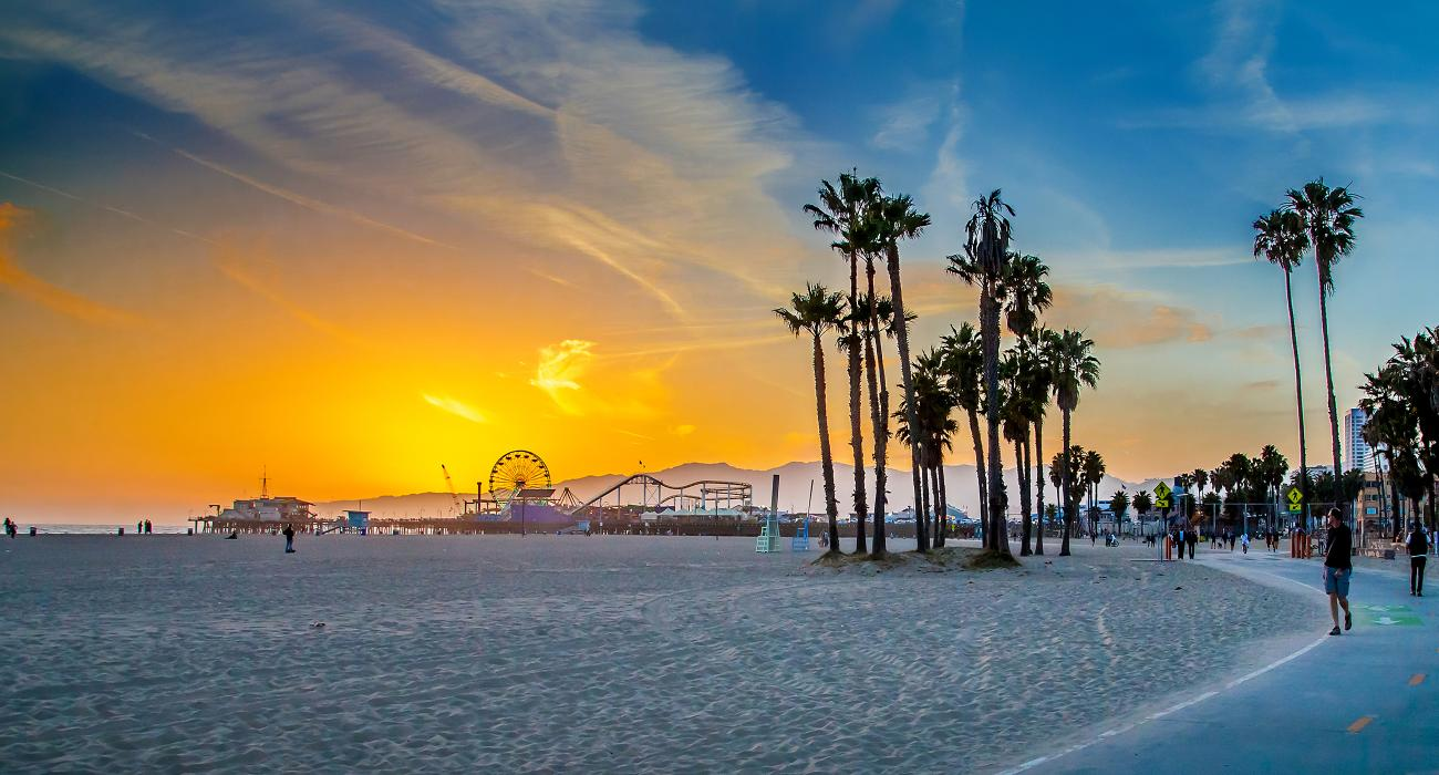Santa Monica California To Venice Beach