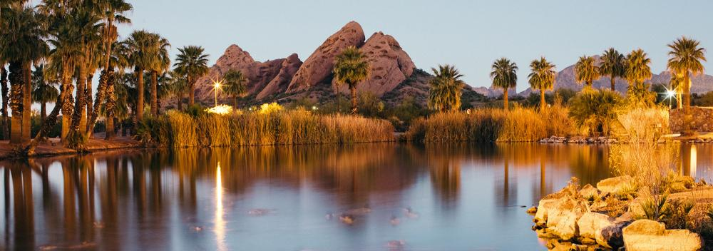 Vistas do deserto em Phoenix, Arizona
